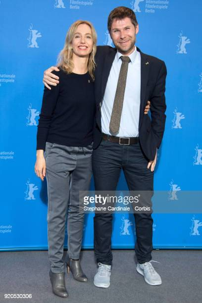 Ursina Lardi and Lionel Baier pose at the 'Shock Waves' photo call during the 68th Berlinale International Film Festival Berlin at Grand Hyatt Hotel...