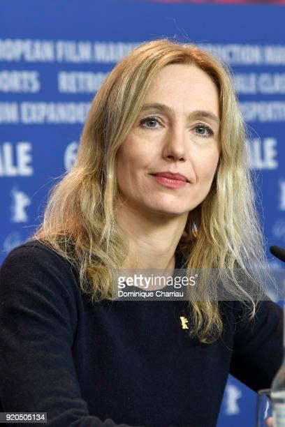 Ursina Lardi attends the 'Shock Waves' press conference during the 68th Berlinale International Film Festival Berlin at Grand Hyatt Hotel on February...