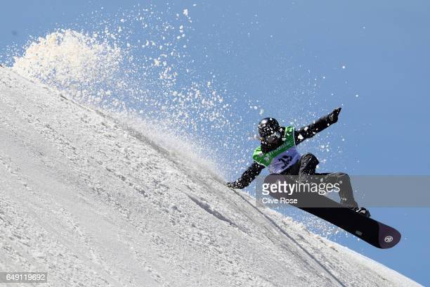 Urska Pribosic of Slovenia in action during slopestyle training on Day One of the FIS Freestyle Ski Snowboard World Championships on March 7 2017 in...
