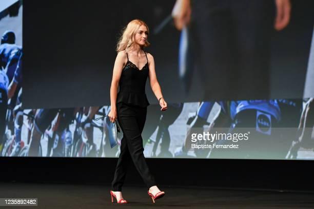 Urska ZIGART during the presentation of the Tour de France 2022 at Palais des Congres on October 14, 2021 in Paris, France.