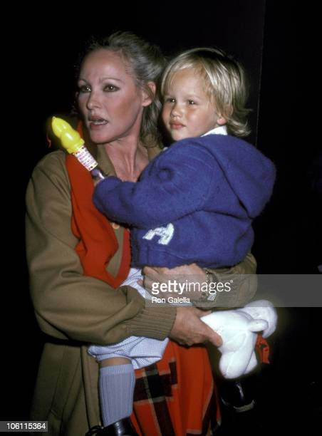 Ursula Andress and Son Dimitri Hamlin during Urusla Andress Sighting On her way to Easter Sunday Brunch April 11 1982 at Beverly HIlls Hotel in...