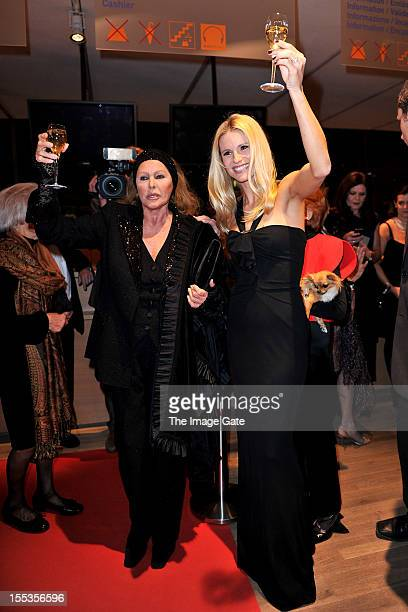 Ursula Andress and Michelle Hunziker attend the Gala of Bern in honour of Ursula Andress celebrating 50 years of the James Bond films held at the...