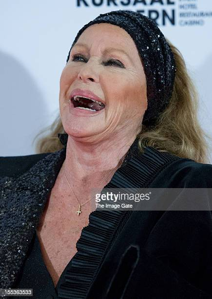Ursula Andress attends the Gala of Bern in honour of Ursula Andress celebrating 50 years of the James Bond films held at the Zentrum Paul Klee on...