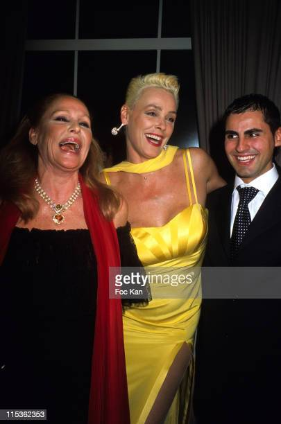 Ursula Andress Brigitte Nielsen and Mattia Dessi during The Best of 2004 28th Edition Awards Ceremony at Pavillon Gabriel in Paris France