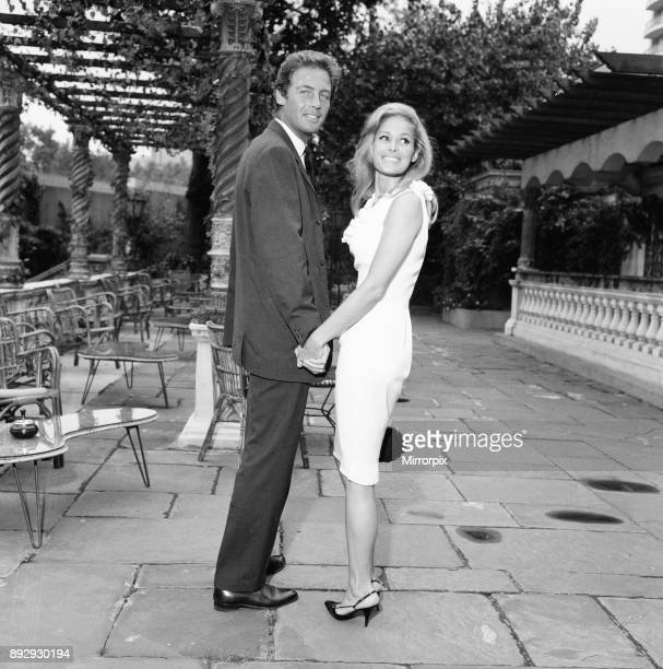 Ursula Andress swiss actress meets her new leading man John Richardson for 1965 film SHE based on She A History of Adventure a novel by H Rider...