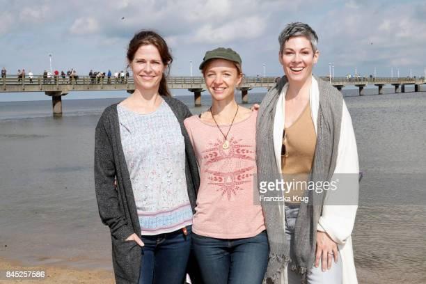 Ursula Buschhorn Cheryl Shepard and Johanna Klante attend the Till Demtroeders CharityEvent 'Usedom Cross Country' at Seebruecke Ahlbeck on September...