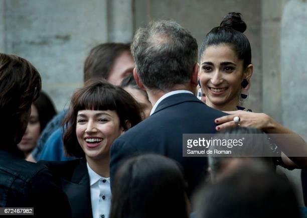 Ursula Corbero and Alba Molina attends 'La Casa de Papel' Madrid Premiere on April 24, 2017 in Madrid, Spain.