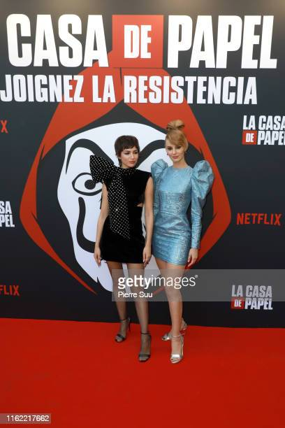 Ursula Corbero and Esther Acebo attends the La Casa De Papel Premiere At Monnaie De Paris on July 15 2019 in Paris France