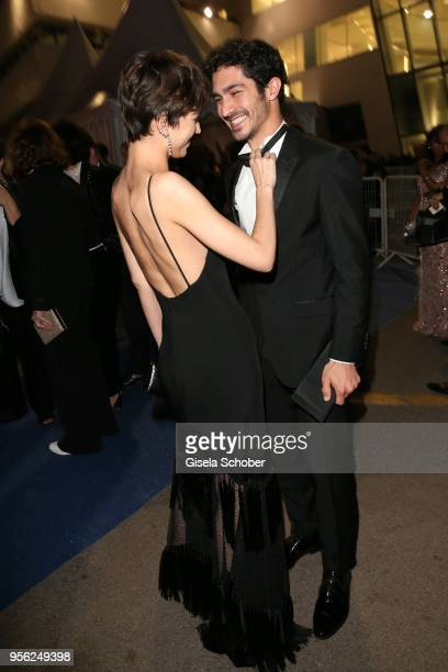 Ursula Corbero and guest leave the screening of 'Everybody Knows ' and the opening gala to gala dinner during the 71st annual Cannes Film Festival at...