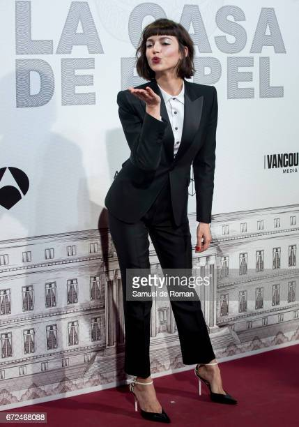 Ursula Corbero attends 'La Casa de Papel' Madrid Premiere on April 24 2017 in Madrid Spain