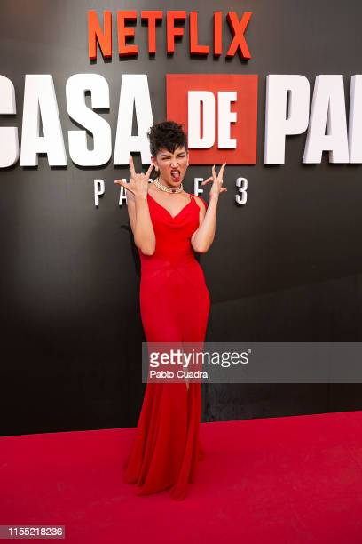 Ursula Corbero attends the red carpet of 'La Casa De Papel' 3rd Season by Netflix on July 11 2019 in Madrid Spain