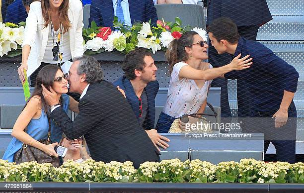 Ursula Corbero Jose Coronado Raul Arevalo and Alex Gonzalez attend the Mutua Madrid Open tennis tournament at La Caja Magica on May 10 2015 in Madrid...