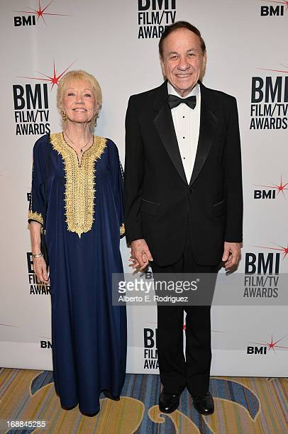 Ursula Elizabeth Sherman composer Richard Sherman arrive to the BMI Film TV Awards Gala at the Regent Beverly Wilshire Hotel on May 15 2013 in...