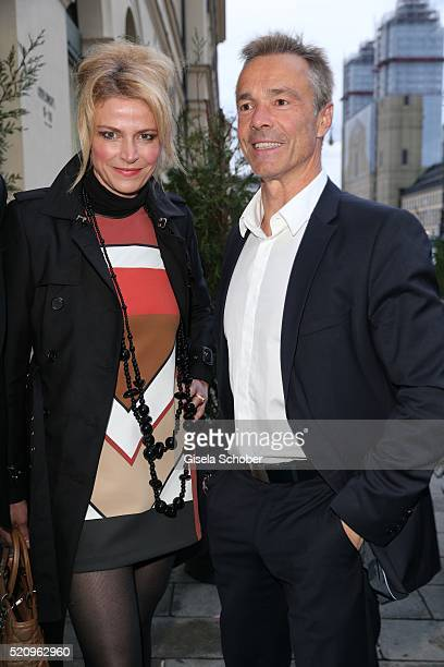 Ursula Gottwald and Hannes Jaenicke during the Maxdome launch of the new entertainment world at Filmcasino on April 13 2016 in Munich Germany
