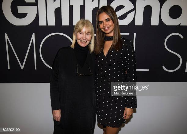 Ursula Hufnagl and Samantha Harris attend the 2017 Girlfriend Priceline Pharmacy Model Search Launch on July 1 2017 in Perth Australia