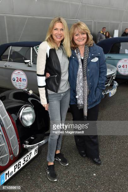 Ursula Karven and Alexandra Schoerghuber Paulaner before the ArabellaClassics Route 2017 starts at BMW World on April 28 2017 in Munich Germany