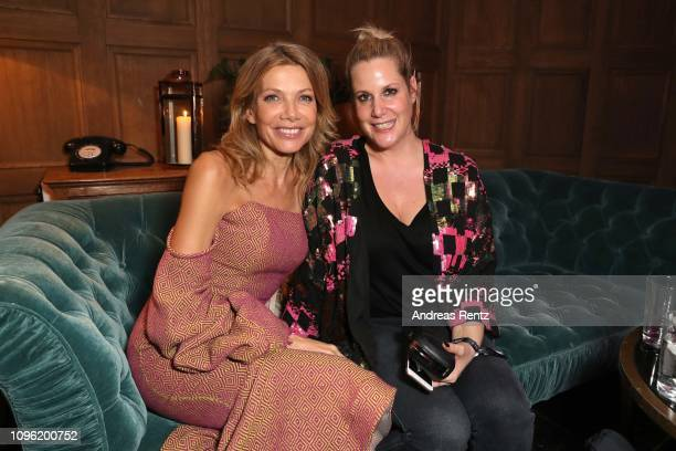 Ursula Karven and Anika Decker attend the Canada Goose X Studio Babelsberg Night at Soho House on February 08 2019 in Berlin Germany