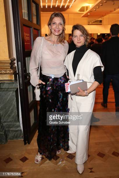 Ursula Karven and Anjorka Strechel during the Hessian Film and Cinema Award at Alte Oper on October 18 2019 in Frankfurt am Main Germany