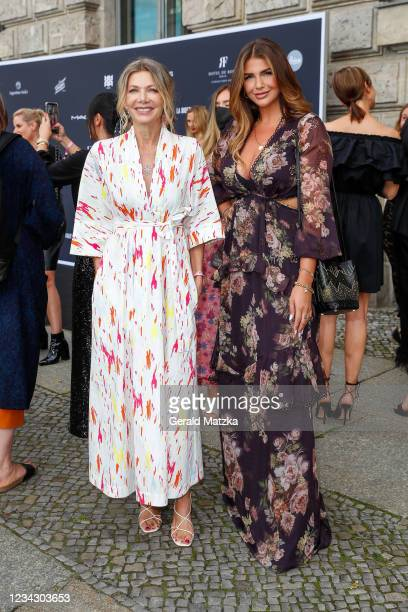 Ursula Karven and Farina Opokur attend Frauen 100 at Hotel De Rome on July 29, 2021 in Berlin, Germany.