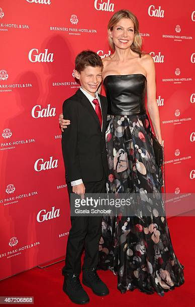 Ursula Karven and her son Liam during the Gala Spa Awards 2015 at Brenners ParkHotel Spa on March 21 2015 in BadenBaden Germany