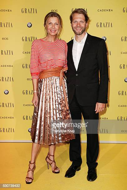 Ursula Karven and Kai Rose attend the GRAZIA Best Inspiration Award on May 11 2016 in Berlin Germany