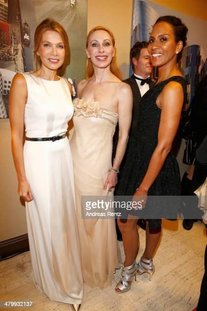 Ursula Karven, Andrea Sawatzki and Barbara Becker attend the GLORIA - German Cosmetic Award at Hilton Hotel on March 21, 2014 in Duesseldorf, Germany.
