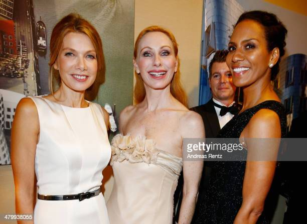 Ursula Karven Andrea Sawatzki and Barbara Becker attend the GLORIA German Cosmetic Award at Hilton Hotel on March 21 2014 in Duesseldorf Germany