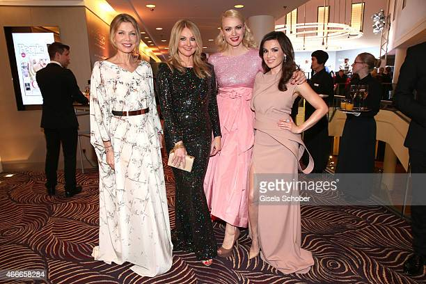 Ursula Karven Frauke Ludowig Franziska Knuppe and Natalia Avelon during the PEOPLE Magazine Germany launch party at Waldorf Astoria on March 17 2015...