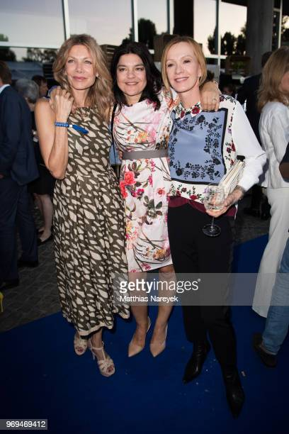 Ursula Karven Jasmin Tabatabai and Katja Flint attend the Summer Party of the German Producers Alliance on June 7 2018 in Berlin Germany