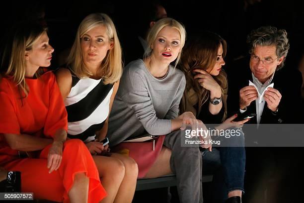 Ursula Karven Judith Milberg Franziska Knuppe Simone Thomalla and Florian Langenscheidt attend the Laurel show during the MercedesBenz Fashion Week...