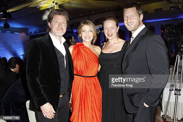 Ursula Karven Mats Wahlström Henning Baum and wife Corinna Baum at The Gala Spa Award at Brenners ParkHotel Spa in Baden Baden