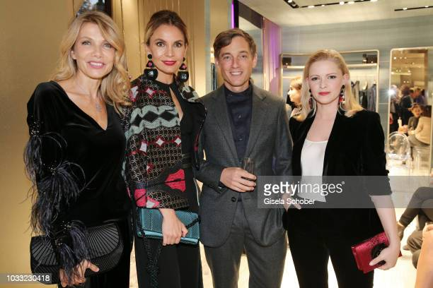 Ursula Karven Nadine Warmuth Volker Bruch and Jennifer Ulrich during the Boutique Trunk Show Giorgio's on September 13 2018 in Munich Germany
