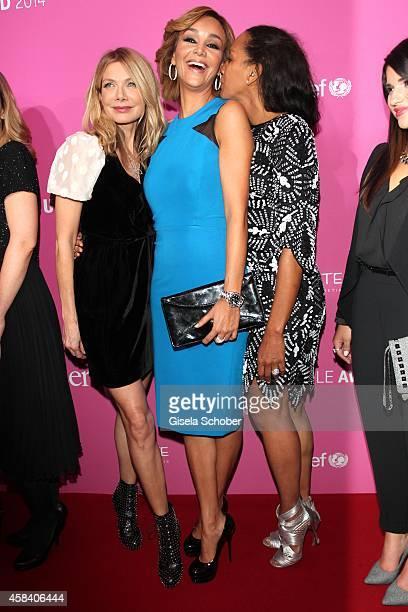 Ursula Karven, Verona Pooth, Barbara Becker attend the CLOSER Magazin Hosts SMILE Award 2014 at Hotel Vier Jahreszeiten on November 4, 2014 in...