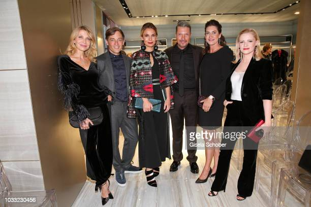 Ursula Karven, Volker Bruch, Nadine Warmuth, Hardy Krueger Jr., Alice Krueger and Jennifer Ulrich during the Boutique Trunk Show & Giorgio's on...