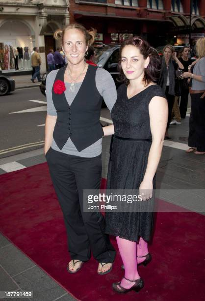 Ursula Martinez And Jess Love Arrive To Meow Meow In Concert At The Apollo Theatre Shaftesbury Avenue London
