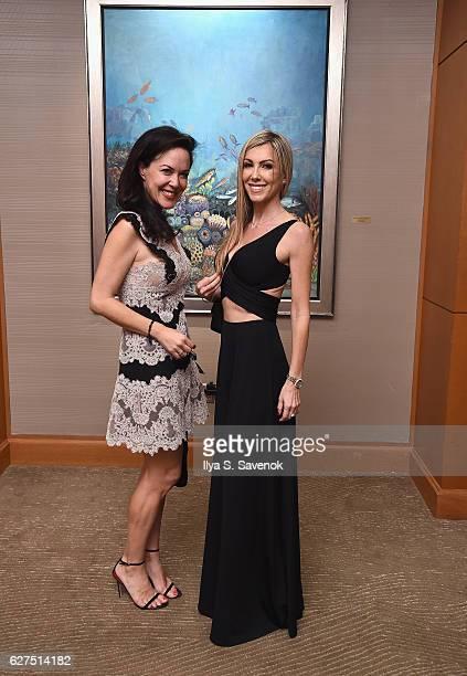 Ursula Salgado and Isabelle Dominguez De Haro attend Underwater Dreams To Life In Color Art Exhibit Featuring Antonio Dominguez De Haro And Romero...