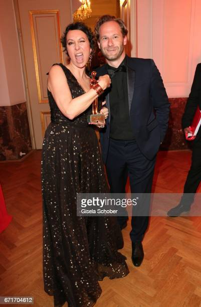 Ursula Strauss and Producer Oliver during the ROMY award at Hofburg Vienna on April 22 2017 in Vienna Austria