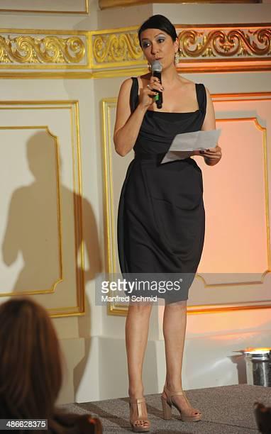 Ursula Strauss attends the Romy 2014 Academy Awards at Hofburg Vienna on April 24 2014 in Vienna Austria