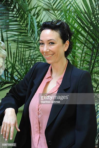 Ursula Strauss poses during the 'Schnell ermittelt' on set photo call on June 8 2016 in Vienna Austria