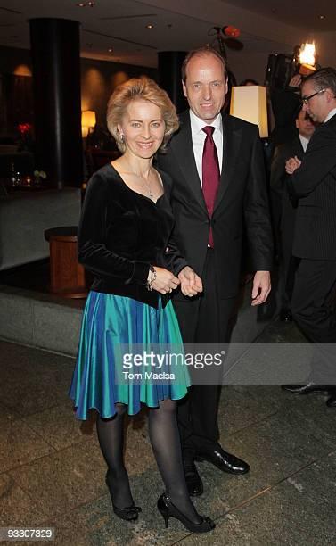 Ursula von der Leyen and Heiko von der Leyen attend the 'Innocence In Danger' Photocall and Reception on November 22, 2009 in Berlin, Germany.
