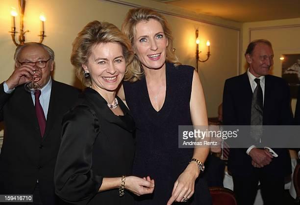 Ursula von der Leyen and Maria Furtwaengler attend the 'GeruechteGeruechte' premiere at Theater am Kurfuerstendamm on January 13 2013 in Berlin...
