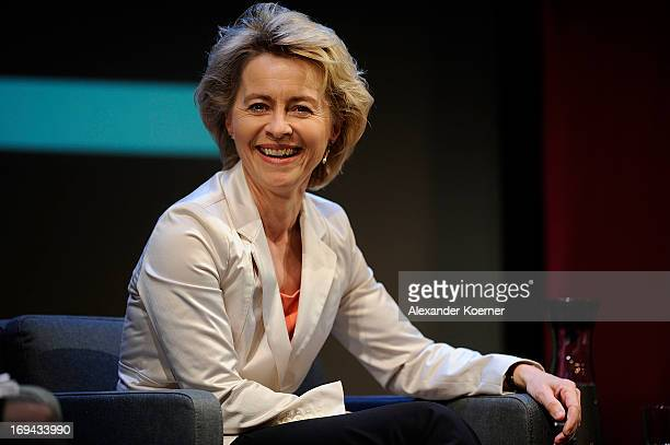 Ursula von der Leyen attends the 'Brigitte Live Frauen waehlen' at Hamburger Kammerspiele on May 24 2013 in Hamburg Germany