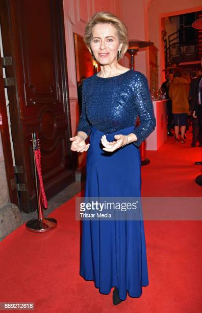 Ursula von der Leyen attends the Ein Herz Fuer Kinder Gala 2017 After Show Party at Borchardt Restaurant on December 9 2017 in Berlin Germany