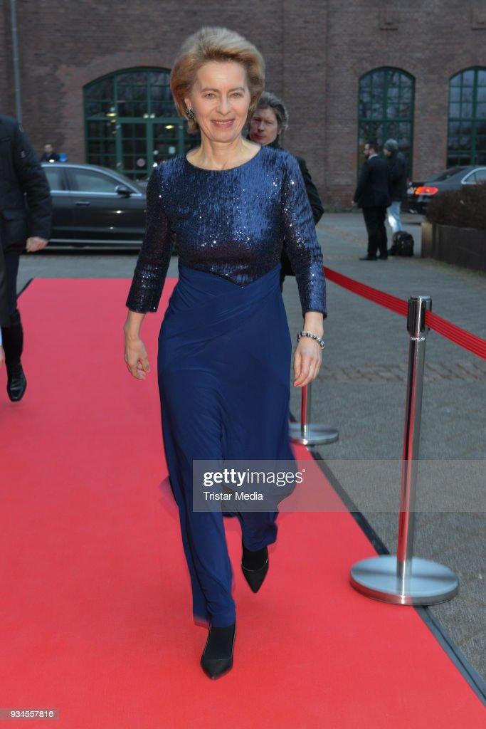 Ursula von der Leyen attends the Steiger Award at Zeche Hansemann on March 17, 2018 in Dortmund, Germany.