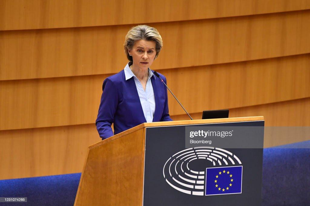 European Commission President Ursula vonder Leyen Addresses Parliament Plenary : ニュース写真