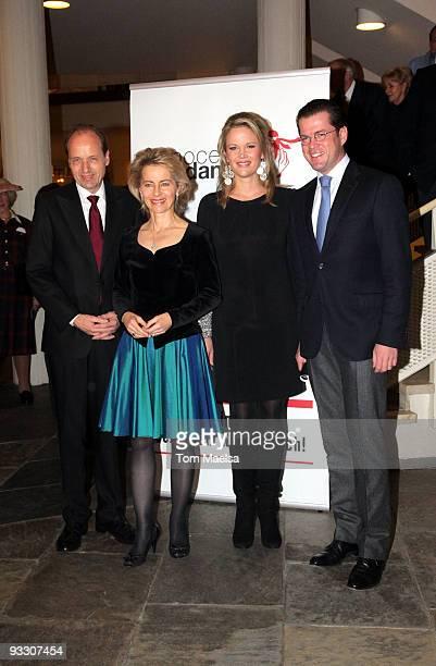 Ursula von der Leyen, Heiko von der Leyen, Stephanie Freifrau von und zu Guttenberg and Karl-Theodor zu Guttenberg attend the 'Innocence In Danger'...