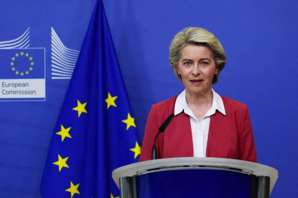 BEL: European Commission President Ursula von der Leyen Announces EU Vaccine Target Met