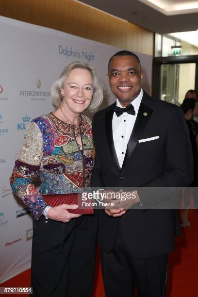 Ursula zu Hohenlohe and John Yearwood attend the charity event Dolphin's Night at InterContinental Hotel on November 25 2017 in Duesseldorf Germany
