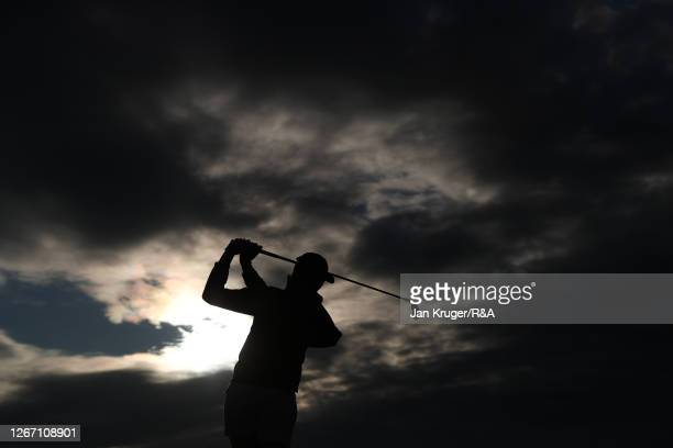 UrsulaWikstrom of Finland plays a shot on the driving rang ahead of the AIG Women's Open 2020 at Royal Troon on August 19, 2020 in Troon, Scotland.