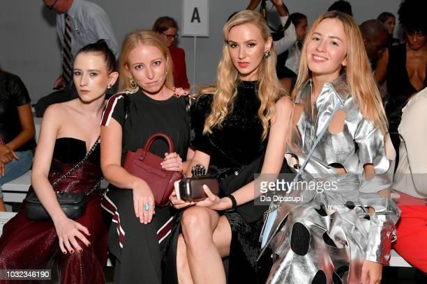 Urszula Makowska Antigone Lovoi Julia Kananovich and Lena Kreschuk attends the Dakun X Liu Yong front Row during New York Fashion Week The Shows at...